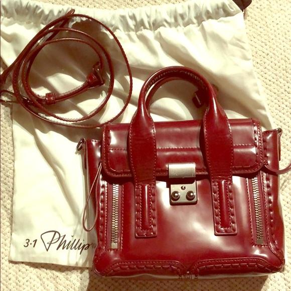 ea5a6255825ce 3.1 phillip lim red polished mini pashli satchel